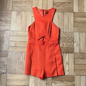 Topshop Orange Romper Size 4